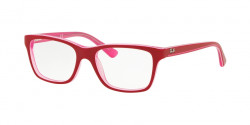 Ray-Ban Junior RY 1536 3761  TRASPARENT PINK ON TOP BORDEAU