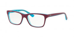 Ray-Ban Junior RY 1536 3763  TRASP AZURE ON TOP FUXIA