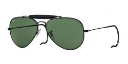 Ray-Ban RB 3030 OUTDOORSMAN L9500  BLACK crystal green