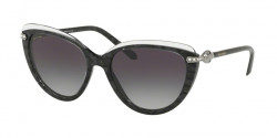 Bvlgari BV 8211 B 54668G      TOP CRYSTAL ON BLACK MAMBA  grey gradient