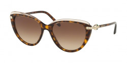 Bvlgari BV 8211 B 546513  TOP TRANSP PINK ON DARK HAVANA brown gradient