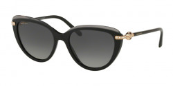 Bvlgari BV 8211 B 5464T3  TOP TRANSPARENT GREY ON BLACK polar grey gradient