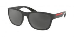 Prada PS 01 US ACTIVE UFK5L0  GREY RUBBER grey mirror black