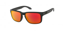 Oakley OO 9102 HOLBROOK  9102E2  MATTE BLACK prizm ruby