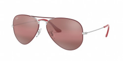 Ray-Ban RB 3025 AVIATOR 9155AI  SILVER ON TOP MATTE BORDEAUX purple bi-mirror grey-photo