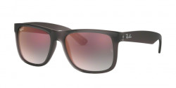 Ray-Ban RB 4165 JUSTIN 606/U0  TRASPARENT GREY grey gradient mirror red
