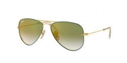 Ray-Ban RJ 9506 S Junior 275/W0  GOLD ON TOP TURQUOISE  green mirror red