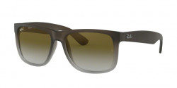 Ray-Ban RB 4165 JUSTIN 854/7Z RUBBER BROWN ON GREY green gradient
