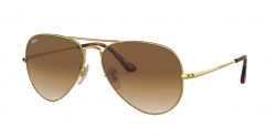 Ray-Ban RB 3689 AVIATOR METAL II 914751  GOLD clear gradient brown