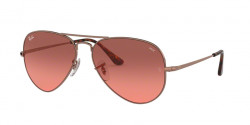 Ray-Ban RB 3689 AVIATOR METAL II 9151AA  COPPER photo red gradient bordeaux