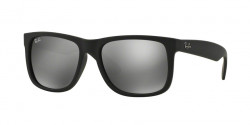 Ray-Ban RB 4165 JUSTIN 622/6G   RUBBER BLACK grey mirror silver