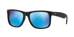 Ray-Ban RB 4165 JUSTIN 622/55   BLACK RUBBER green mirror blue