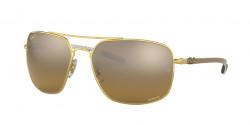 Ray-Ban RB 8322 CH 001/A3  GOLD brown mir gold gradient polar