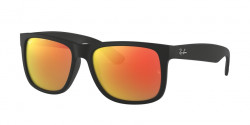 Ray-Ban RB 4165 JUSTIN 601/8G RUBBER BLACK grey gradient