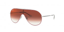 Ray-Ban RJ 9546 S 274/V0  SILVER ON TOP RED clear gradient red mirror red