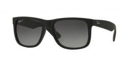 Ray-Ban RB 4165 JUSTIN 622/T3 BLACK RUBBER polar grey gradient