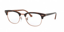 Ray-Ban RB 5154 CLUBMASTER 5884  TOP HAVANA ON BROWN