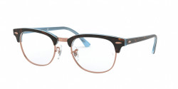 Ray-Ban RB 5154 CLUBMASTER 5885  TOP HAVANA ON LIGHT BLUE