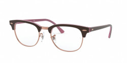 Ray-Ban RB 5154 CLUBMASTER 5886  TOP BROWN ON OPAL PINK