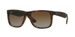 Ray-Ban RB 4165 JUSTIN 865/T5 HAVANA RUBBER polar brown gradient