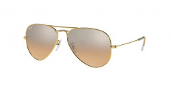 Ray-Ban RB 3025 AVIATOR 001/3E  GOLD crys.brown-pink silver mirror