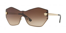 Versace VE 2182 GLAM MEDUSA SHIELD 125213  PALE GOLD  brown gradient