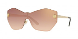 Versace VE 2182 GLAM MEDUSA SHIELD 12526F  PALE GOLD  gradient pink mirror pink