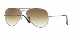 Ray-Ban RB 3025 AVIATOR  004/51 GUNMETAL crystal brown gradient