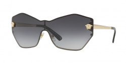 Versace VE 2182 GLAM MEDUSA SHIELD 12528G  PALE GOLD grey gradient