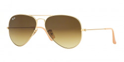 Ray-Ban RB 3025 AVIATOR 112/85 MATTE GOLD  brown gradient