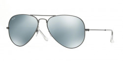 Ray-Ban RB 3025 AVIATOR 029/30 MATTE GUNMETAL green mirror silver