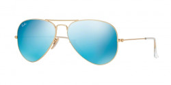 Ray-Ban RB 3025 AVIATOR 112/17 MATTE GOLD cry.green mirror multil.blue