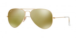 Ray-Ban RB 3025 AVIATOR 112/93 MATTE GOLD brown mirror gold