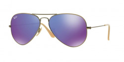 Ray-Ban RB 3025 AVIATOR 167/1M   BRUSHED BRONZE DEMI SHIN  grey mirror purple