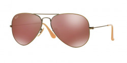 Ray-Ban RB 3025 AVIATOR 167/2K   DEMIGLOS BRUSHED BRONZE red mirror