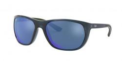 Ray-Ban RB 4307 643855  TRASPARENT BLUE  blue mirror blue