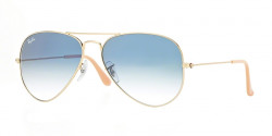 Ray-Ban RB 3025 AVIATOR 001/3F crystal gradient light blue