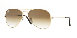 Ray-Ban RB 3025 AVIATOR 001/51  GOLD crystal brown gradient