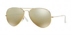 Ray-Ban RB 3025 AVIATOR 001/3K  GOLD cry. brown mirror silver grad.