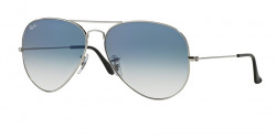 Ray-Ban RB 3025 AVIATOR 003/3F  SILVER  crystal gradient light blue