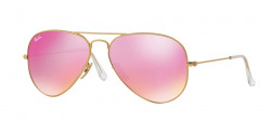 Ray-Ban RB 3025 AVIATOR 112/4T MATTE GOLD  green mirror fuxia