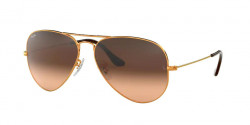 Ray-Ban RB 3025 AVIATOR 9001A5 SHINY LIGHT BRONZE pink gradient brown