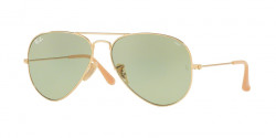 Ray-Ban RB 3025 AVIATOR 90644C  GOLD photo green