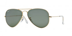 Ray-Ban RB 3025 AVIATOR Polarized 001/58  GOLD crystal green polarized