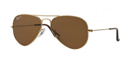 Ray-Ban RB 3025 AVIATOR Polarized 001/57  GOLD  crystal brown polarized