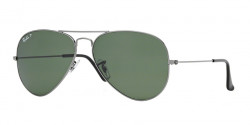 Ray-Ban RB 3025 AVIATOR Polarized 004/58  GUNMETAL  crystal green polarized