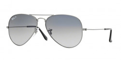 Ray-Ban RB 3025 AVIATOR Polarized 004/78  GUNMETAL  crystal polar blue grad.grey