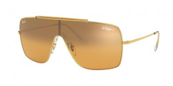 Ray-Ban RB 3697 WINGS II 905071  GOLD dark green