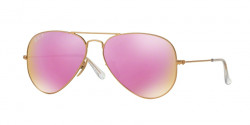 Ray-Ban RB 3025 AVIATOR Polarized 112/1Q  MATTE GOLD : brown mirror fucsia polar