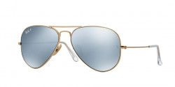 Ray-Ban RB 3025 AVIATOR Polarized 112/W3  MATTE GOLD  polar dark grey